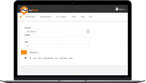 ERP - Beispiel ohne versandfertige Bestellungen