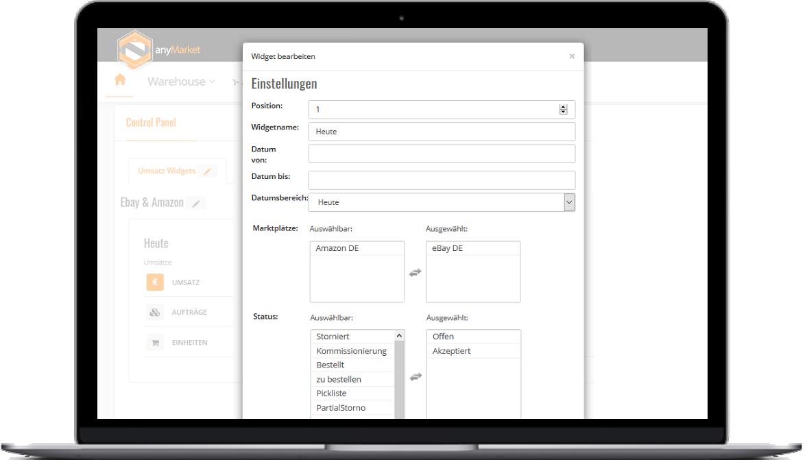 anyMarket eCommerce - Control-Panels Filter